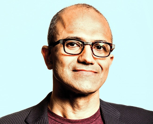 portrait of Nadella