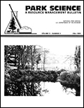 Cover of Park Science 9(5)—Fall 1989