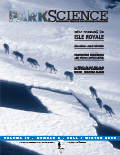 Cover of Park Science 20(2)—Fall-Winter 2000