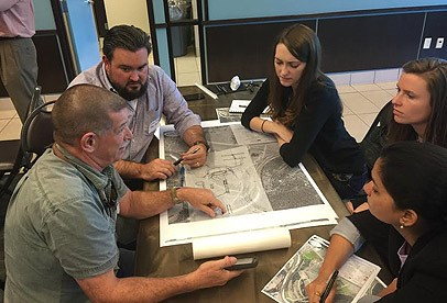 American Society of Landscape Architects members participating in a design workshop.