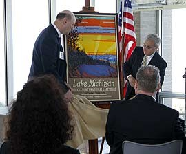 The Dunes National Park Association poster is unveiled.
