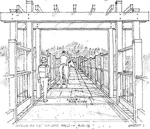 A concept design drawing featuring a portion of the trail.
