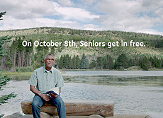 On October 8th Seniors get in free.