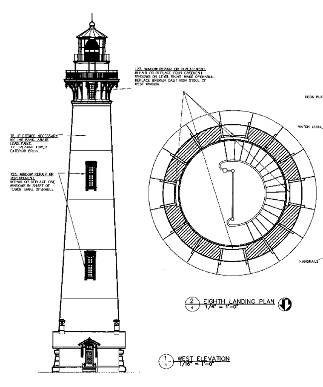 CAD drawing for Cape Hatteras lighthouse