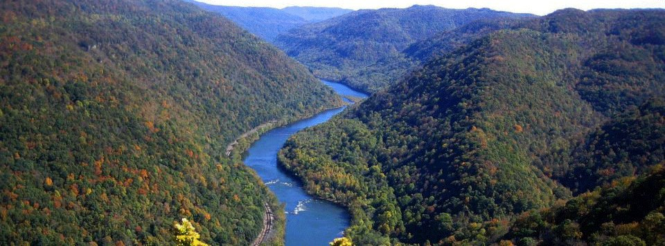 Aerial view of New River gorge