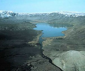 Aniakchak Crater aerial view.
