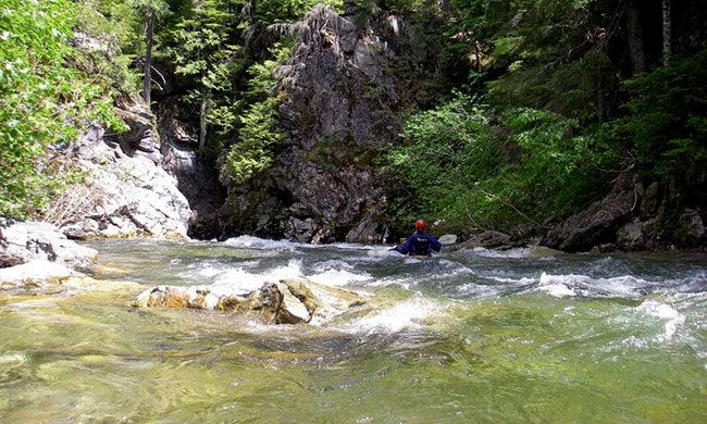 Kayaker on the Little Wenatchee River
