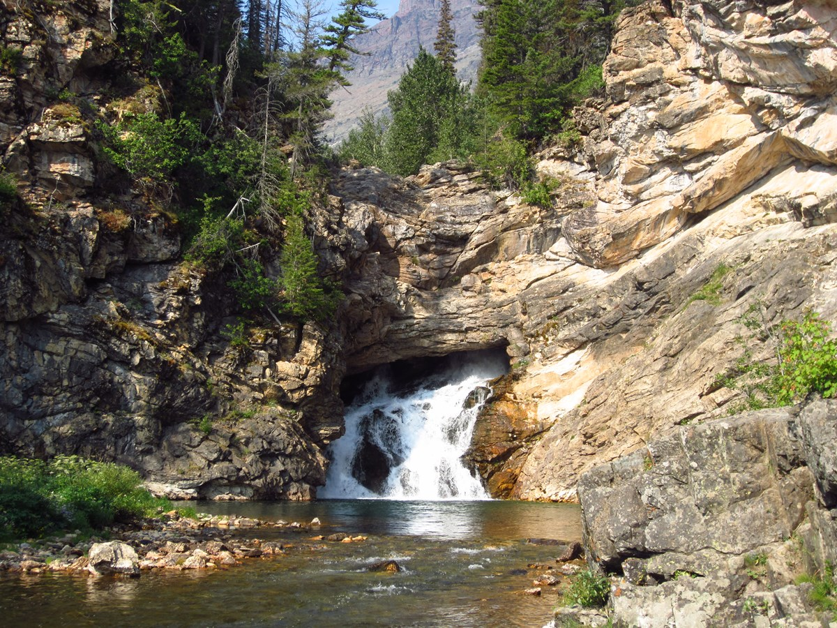 Waterfall at Glacier National Park