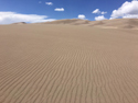 Wind ripples patterns across sand dunes at Great Basin National Park.