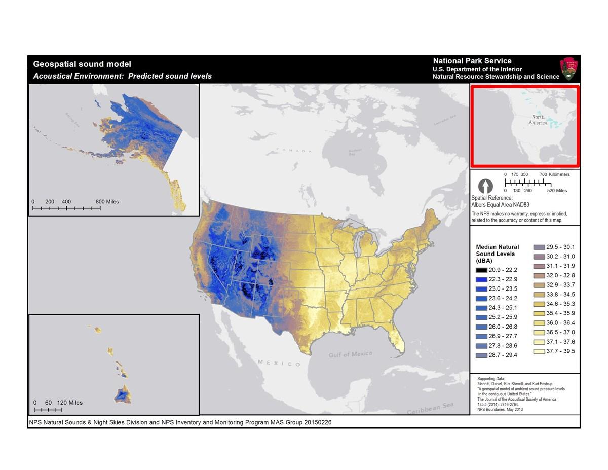 Natural Sound Pressure Levels Map Natural Sounds Us National - Pressure-map-of-us