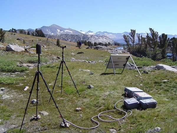 Installation of sound equipment at Granite Lake