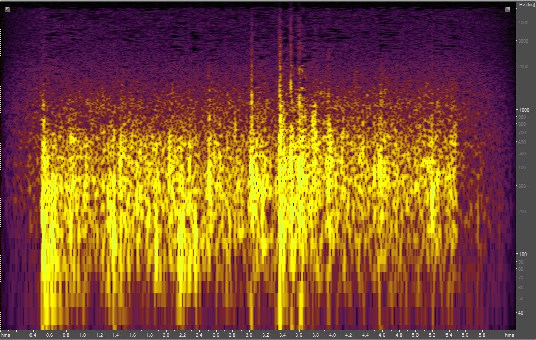 Spectrogram of an avalanche