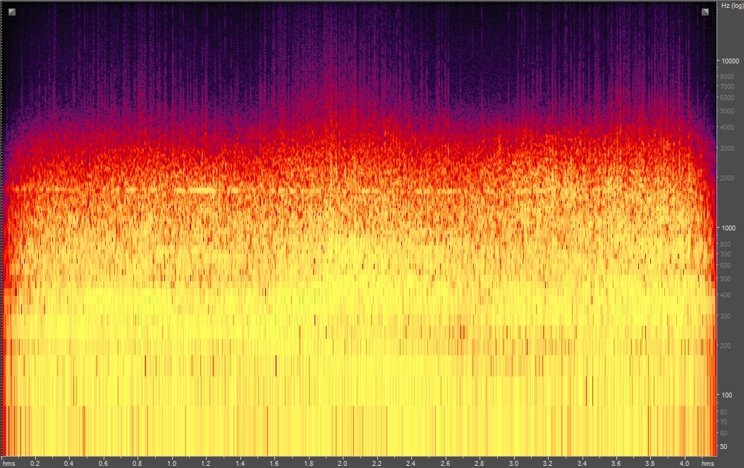 Spectrogram of a helicopter