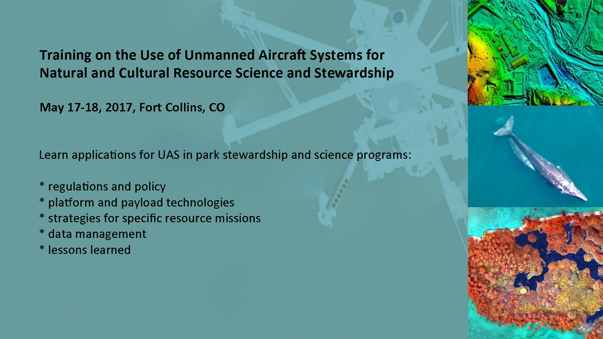 Poster gives information about a symposium on the use of unmanned aircraft systems