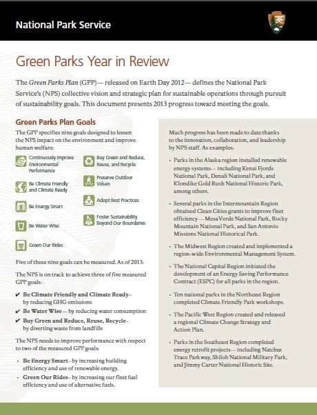 Green Parks Performance Brief (2013)