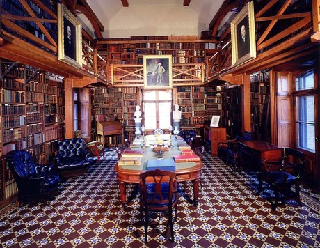 Stone Library, containing the books from four generations of the Adams Family.