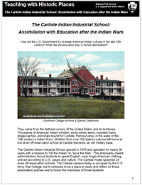 Cover of the Carlisle School lesson plan from TwHP
