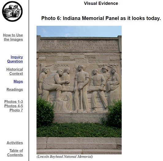Image of the Indiana Memorial Panel with text below