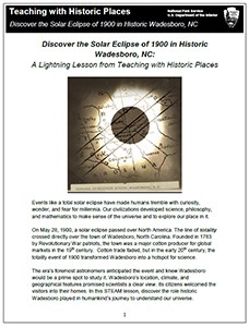 Cover of Wadesboro-1900 Eclipse lesson plan