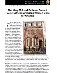 Mary McLeod Bethune Council House lesson plan capture