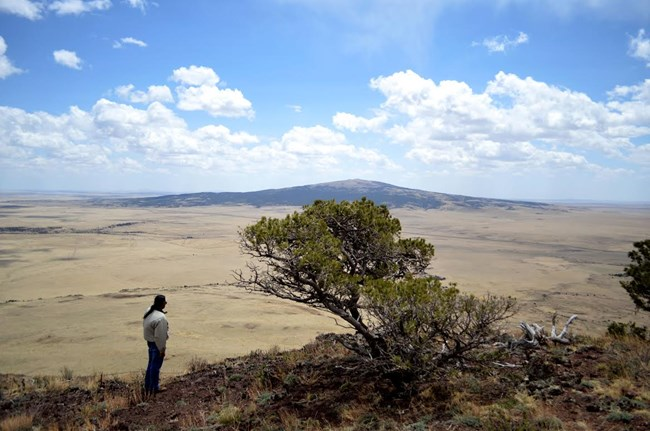 Brian Vigil enjoying the view from Capulin Volcano