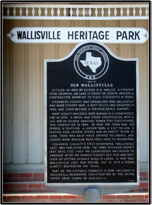 Mission Nuestra Señora de la Luz,  Wallisville Heritage Center has information about the Orcoquisac Archeological District.