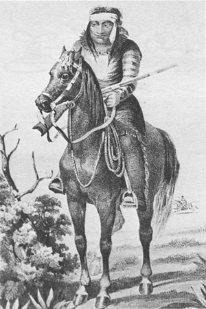 Lipan Apache warrior, 1857.