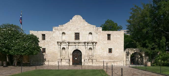 The Alamo in San Antonio, Texas,