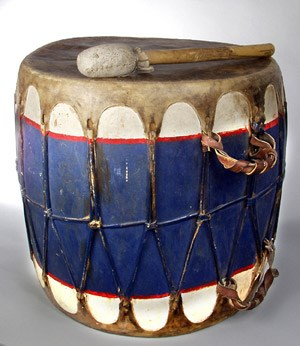 Drum and Stick from Zia Pueblo c. 1940