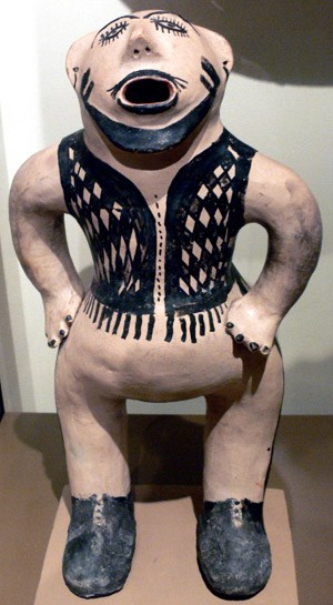 Clay figure, caricature of a white man; Cochiti Pueblo, New Mexico, c. 1883