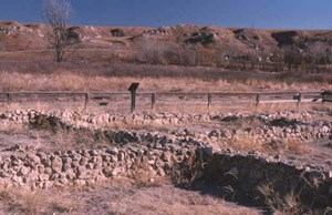 Remains of Cuartelejo in Kansas, where Pueblo peoples sometimes lived during the colonial period.
