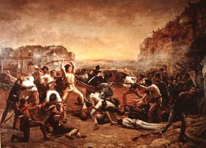 Painting Fall of the Alamo