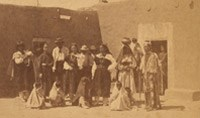 Group of Indians at the Pueblo of San Juan, NM, ca. 1870-1908. Photo by H.T. Heister. Courtesy of Wikimedia Commons.