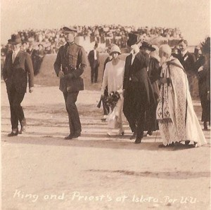 The King of Belgium visits Mission San Agustin de Isleta, October 20th, 1919.
