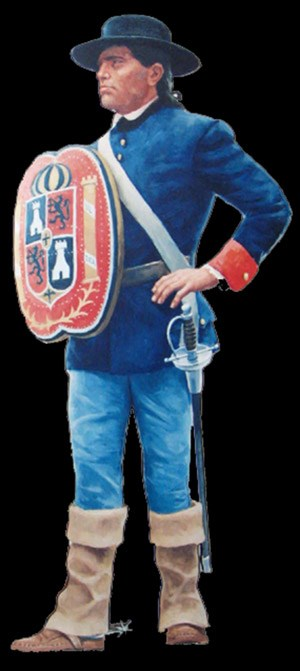 Spanish soldier of 1700s
