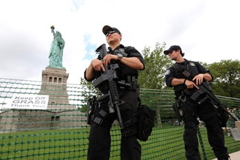 SWAT at Statue of Liberty