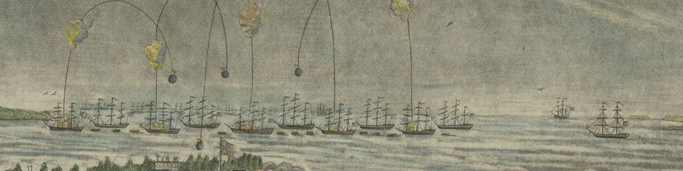 Bombs bursting in air over Baltimore in 1813