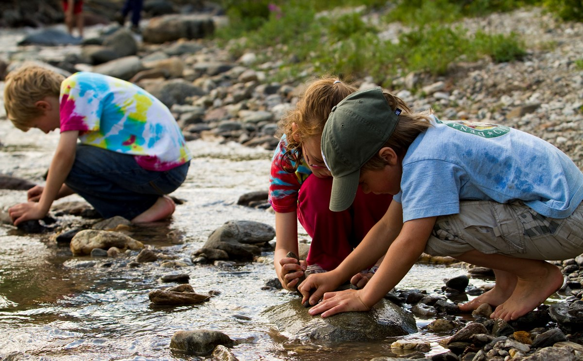 Children play at Denali National Park