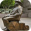 Franklin Roosevelt in wheel chair monument