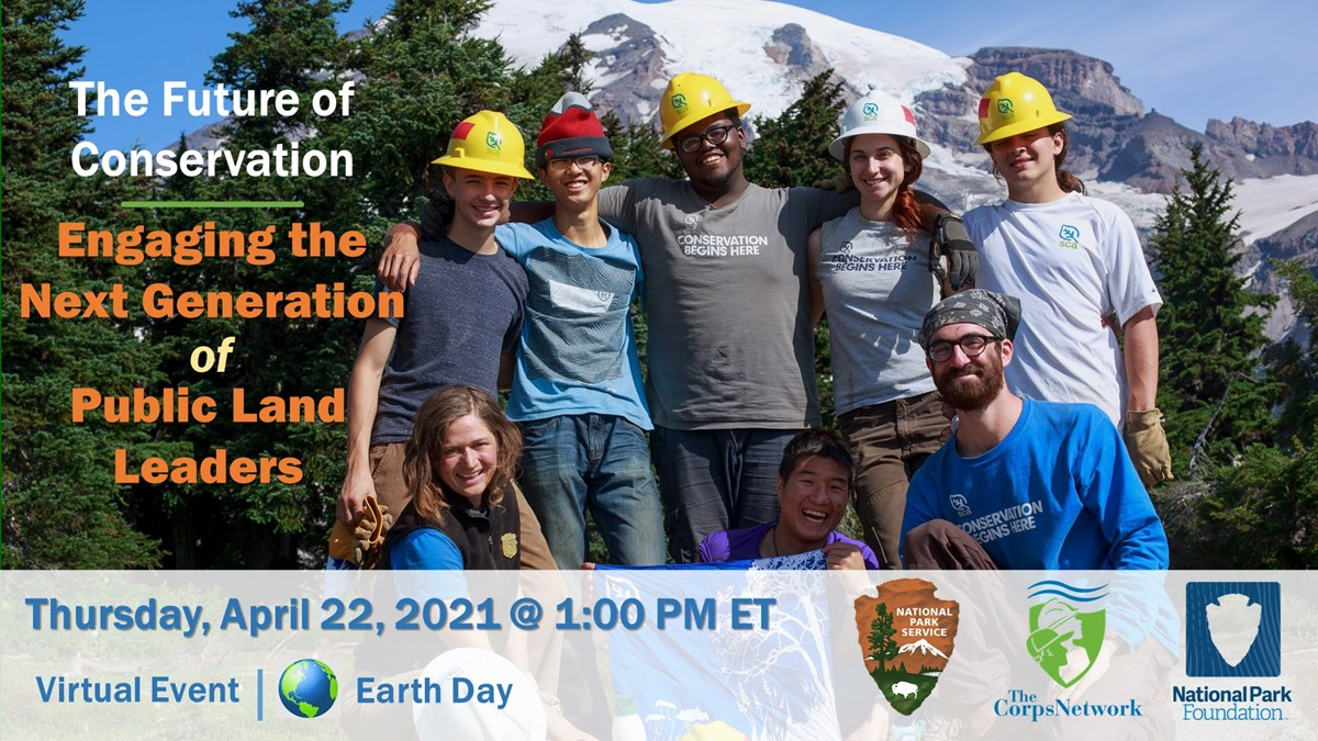 Infographic for The Future of Conservation Earth Day Event; detailed alternative text is on this webpage