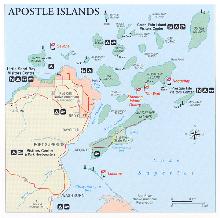 Apostle Islands Map nps.gov/submerged : Submerged Resources Center, National Park
