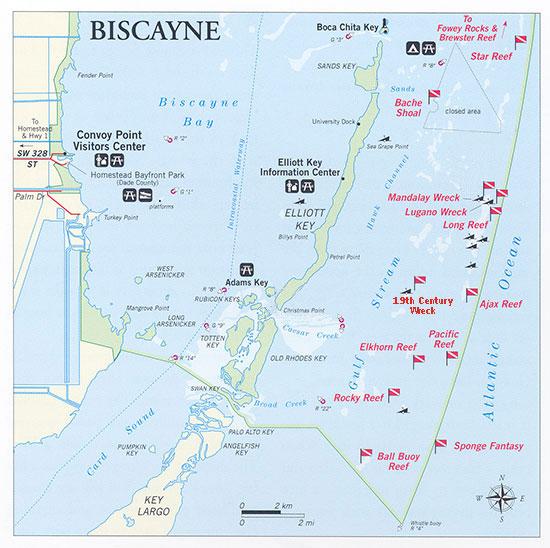 Map Of Homestead Florida.Key Biscayne Reef Biscayne National Park Homestead Fl