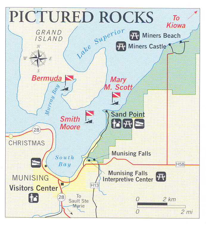 Pictured Rocks Michigan Map.Nps Gov Submerged Submerged Resources Center National Park