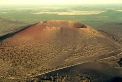 Sunset Crater Volcano, aerial view