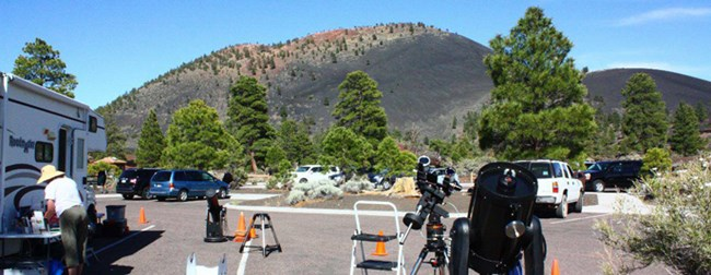 Solar Viewing at Sunset Crater Volcano