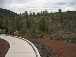 Paved trail through cinders
