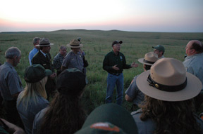 Secretary Salazar speaks from the heart in the tallgrass prairie