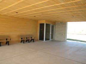doorway to the new visitor center
