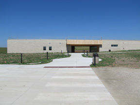front of new visitor center