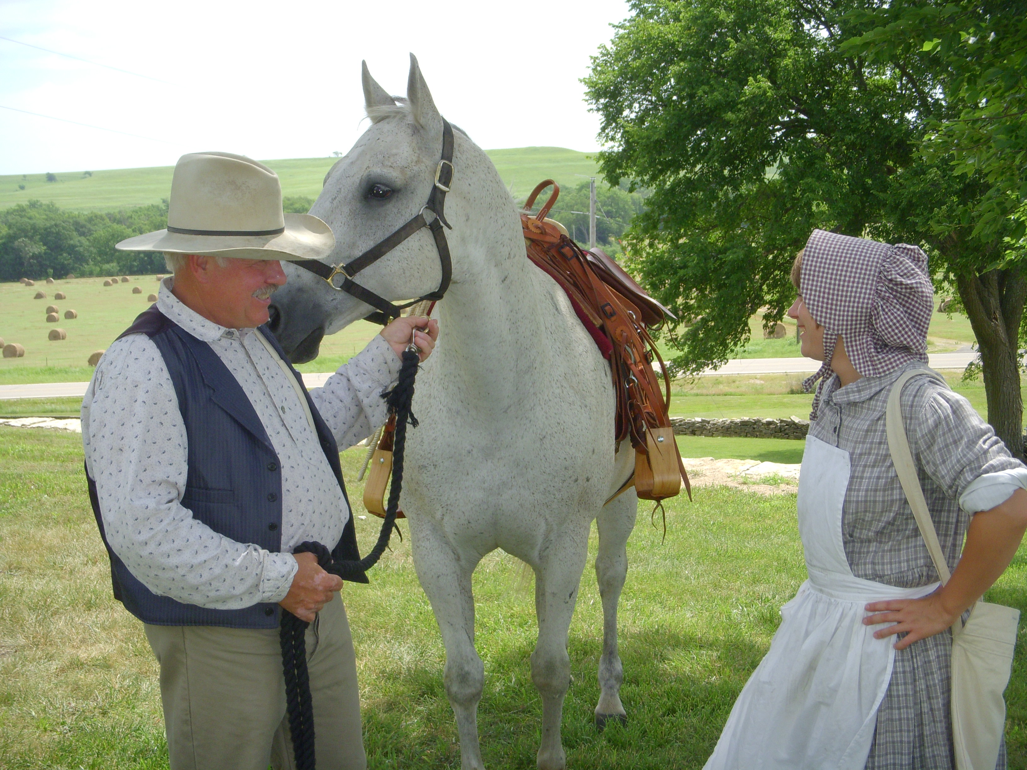 Badger the horse and living history interpreters